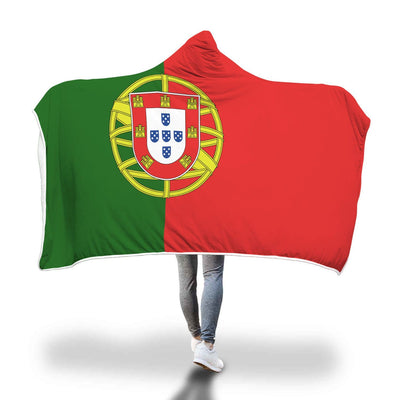 Portugal Flag Custom Designed Hooded Blanket - Get Set Style Metro