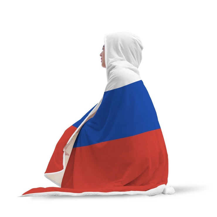 Russia Flag Custom Designed Hooded Blanket - Get Set Style Metro