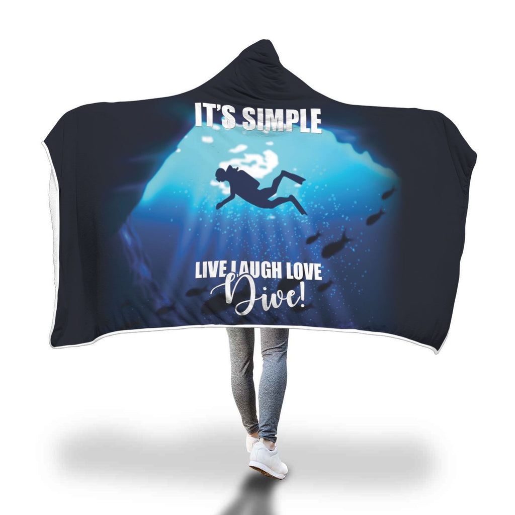 Scuba Diving Design Hooded Blanket - Get Set Style Metro