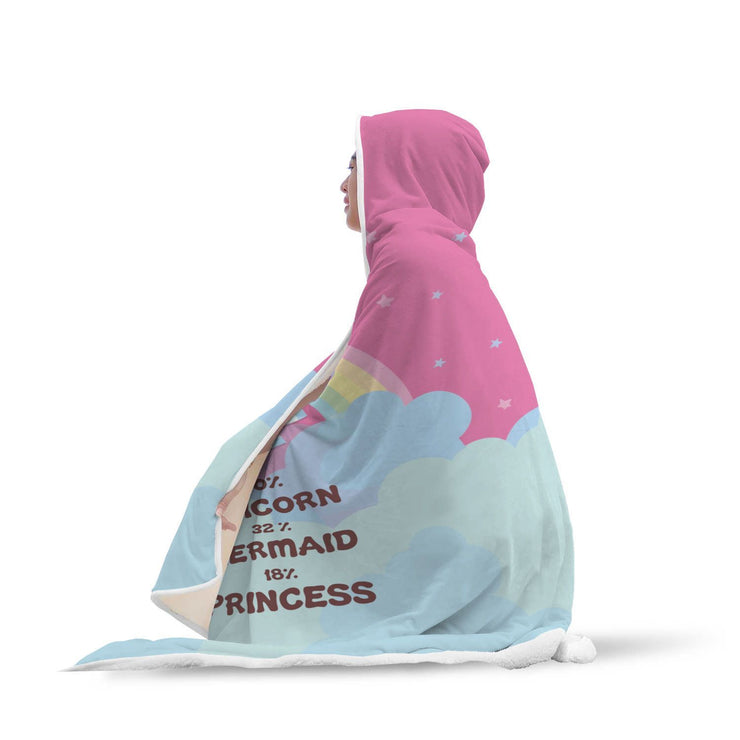 "GetSetStyleMetro Hooded Blanket Adult 80""x55"" Unicorn - Mermaid - Princess Hooded Blanket"