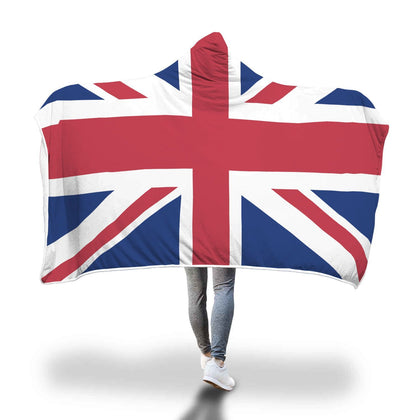 United Kingdom Flag Custom Designed Hooded Blanket - Get Set Style Metro