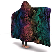 Premium Sea Turtles Rainbow Hooded Blanket - Get Set Style Metro
