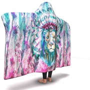 GetSetStyleMetro Hooded Blanket Premium Hippie Lion Hooded Blanket