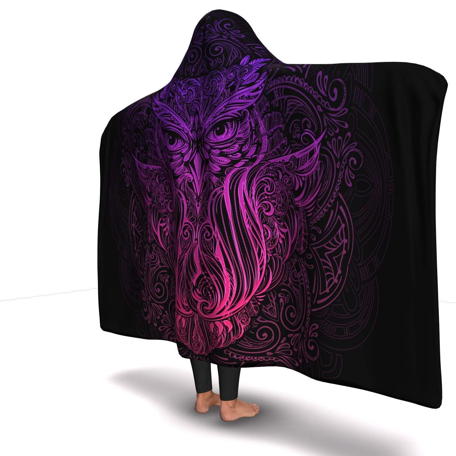 Premium Ornamental Owl Hooded Blanket - Get Set Style Metro