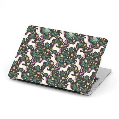 Custom Design Flowers And Unicorn MacBook Case - Get Set Style Metro