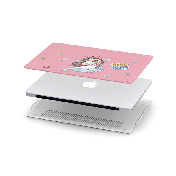 Custom Design Pink Unicorn MacBook Case - Get Set Style Metro
