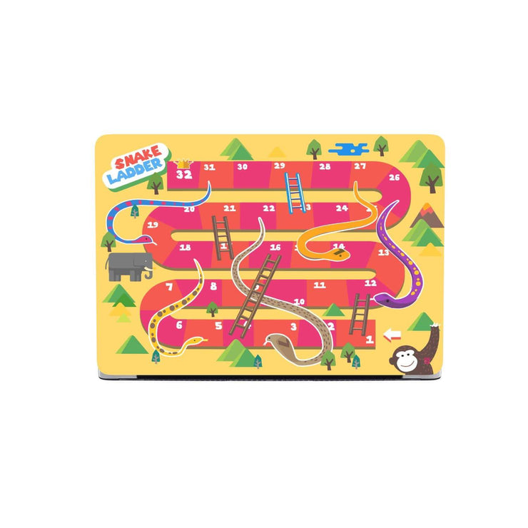 Custom Design Snake And Ladder MacBook Case - Get Set Style Metro