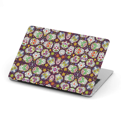 Custom Design Sugar Skulls MacBook Case - Get Set Style Metro