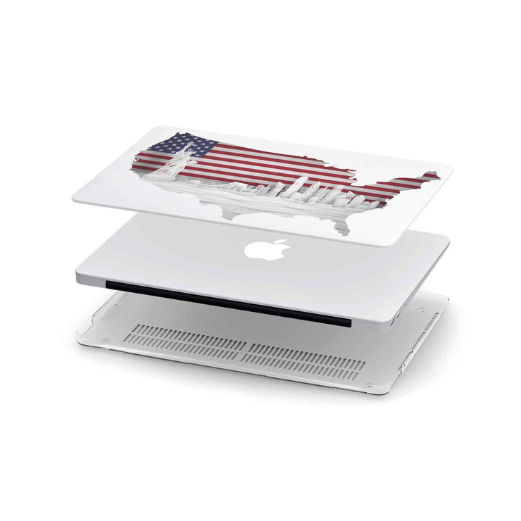 Custom Design US Panorama MacBook Case - Get Set Style Metro