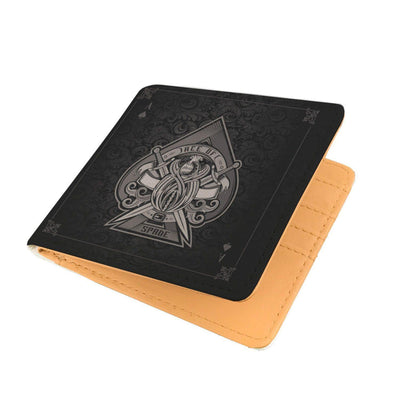 Ace of Spades Design Black RFID Men Wallet - Get Set Style Metro