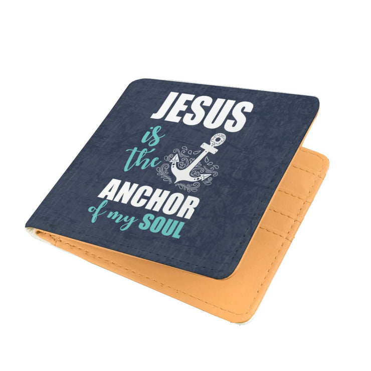 Jesus The Anchor Of My Soul RFID Men Wallet - Get Set Style Metro
