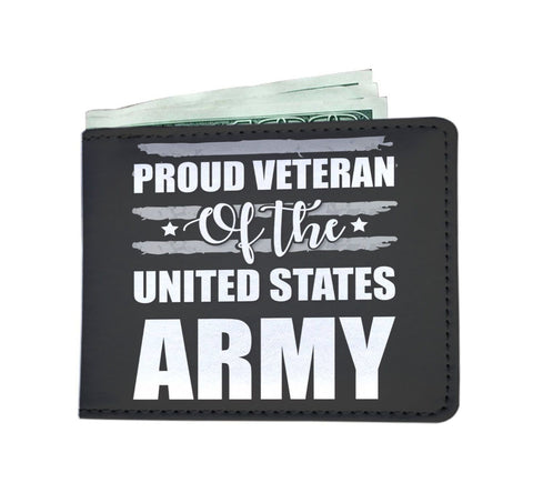Proud Veteran Of The US Army RFID Men Wallet - Get Set Style Metro