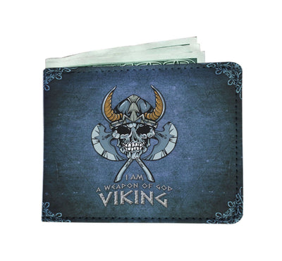 GetSetStyleMetro Mens Wallet Viking Weapon of God RFID Men Wallet