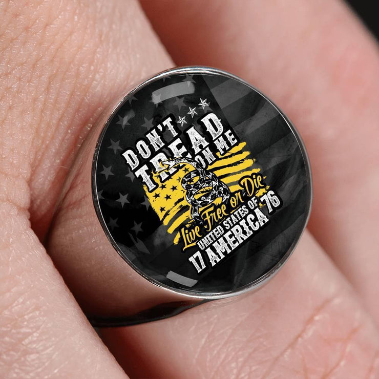 Awesome Custom Design Live Free Or Die Ring - Get Set Style Metro