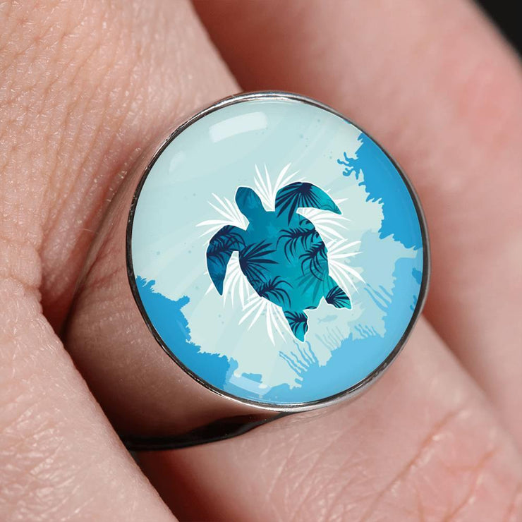 Beautiful Custom Design Sea Turtle Ring - Get Set Style Metro
