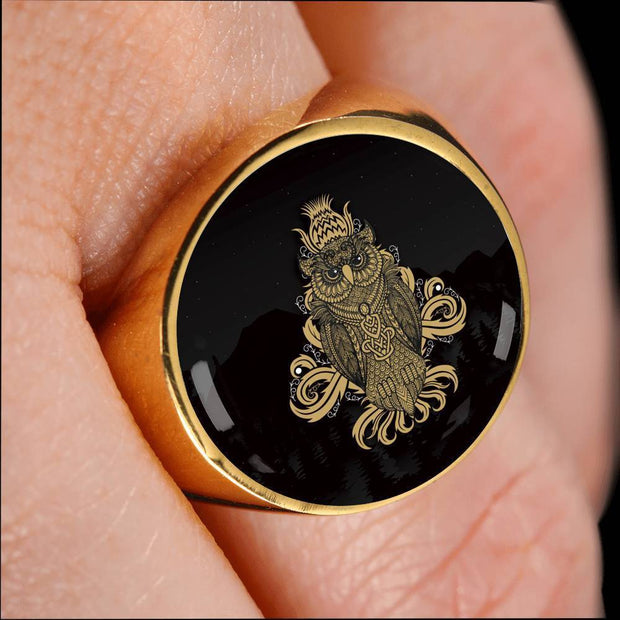 Custom Design Golden Owl Ring - Get Set Style Metro