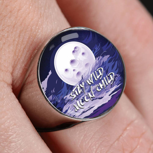 Custom Design Stay Wild Moon Child Ring - Get Set Style Metro