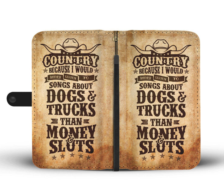 Country Songs About Dogs And Trucks RFID Wallet Phone Case - Get Set Style Metro