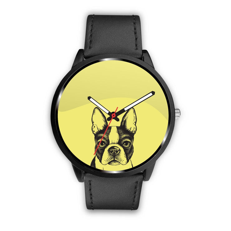 Boston Terrier Dog Customized Design Watch - Get Set Style Metro