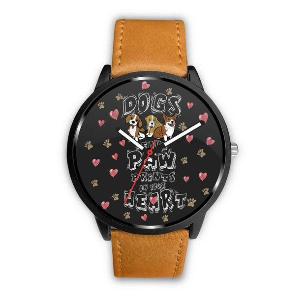 Awesome Dogs Paw Prints Customized Design Watch - Get Set Style Metro