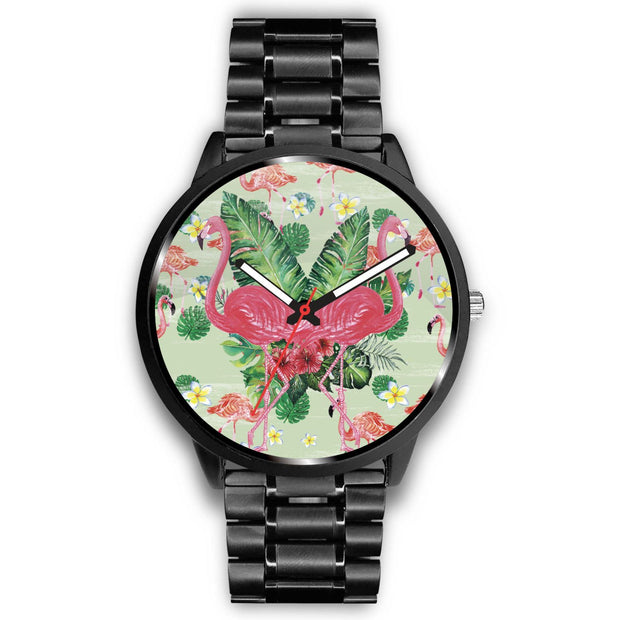 Lovely Double Flamingo Customized Design Watch - Get Set Style Metro