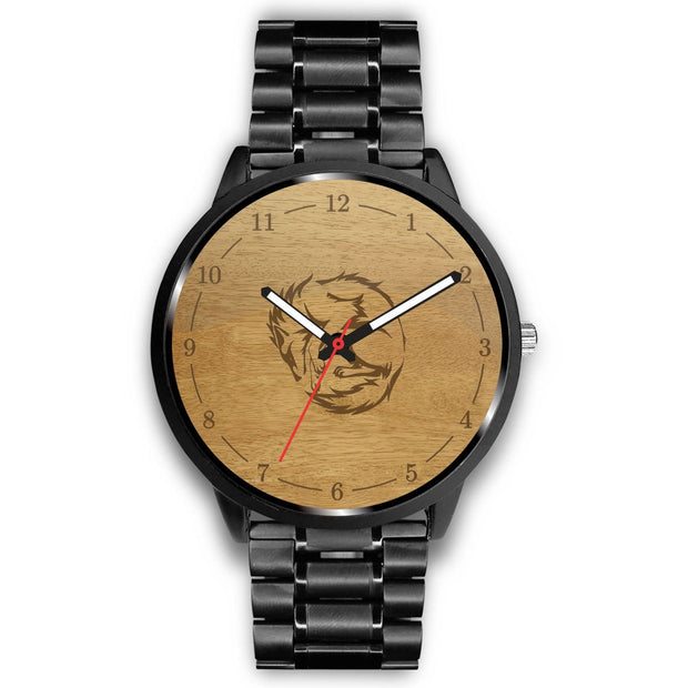 GetSetStyleMetro Watch Mens 40mm / Metal Link Wolf Customized Design Watch