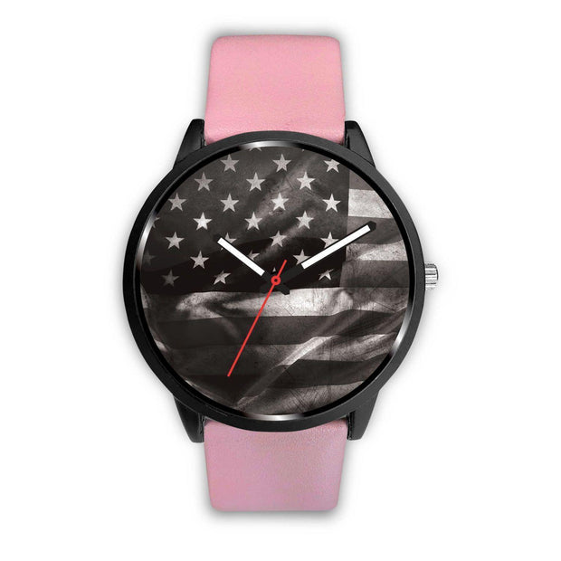Awesome American Faded Black Flag Customized Design Watch - Get Set Style Metro