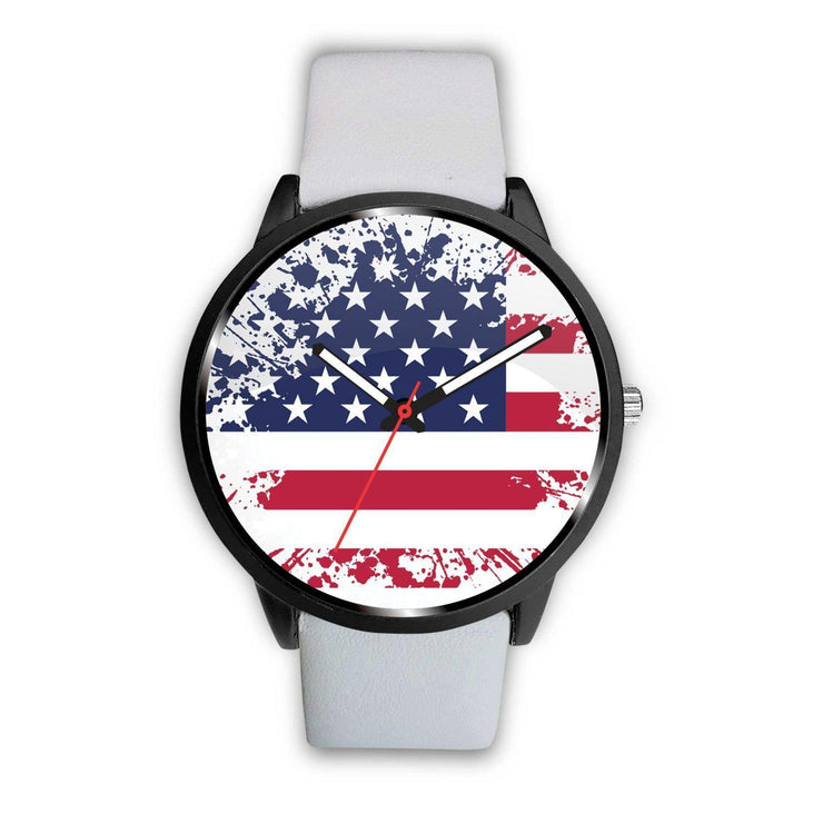 Awesome American Faded Flag Customized Design Watch - Get Set Style Metro