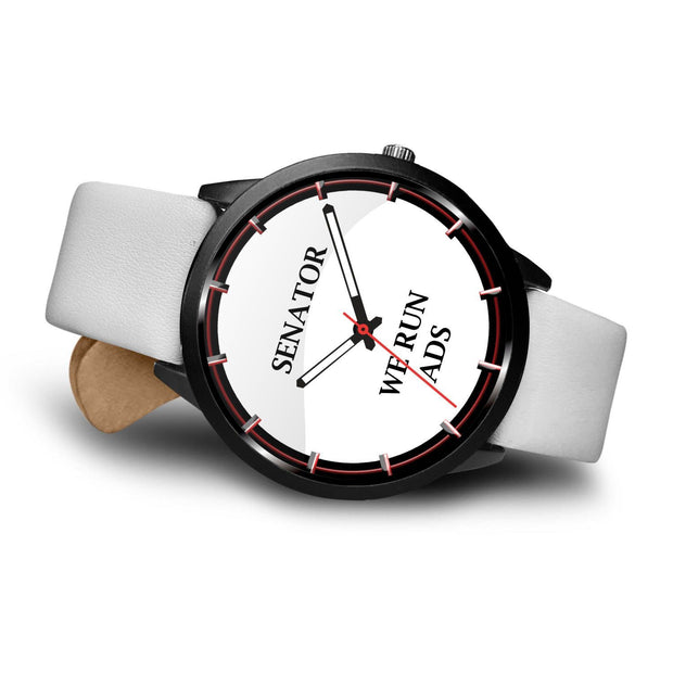 "COOL AND TRENDY ""SENATOR WE RUN ADS"" CUSTOMIZED DESIGN WATCH - Get Set Style Metro"