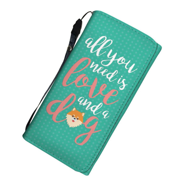 All You Need Is Love and Dog RFID Womens Wallet - Get Set Style Metro