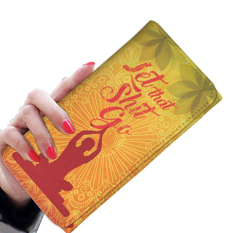 Let That Shit Go Yoga RFID Womens Wallet - Get Set Style Metro