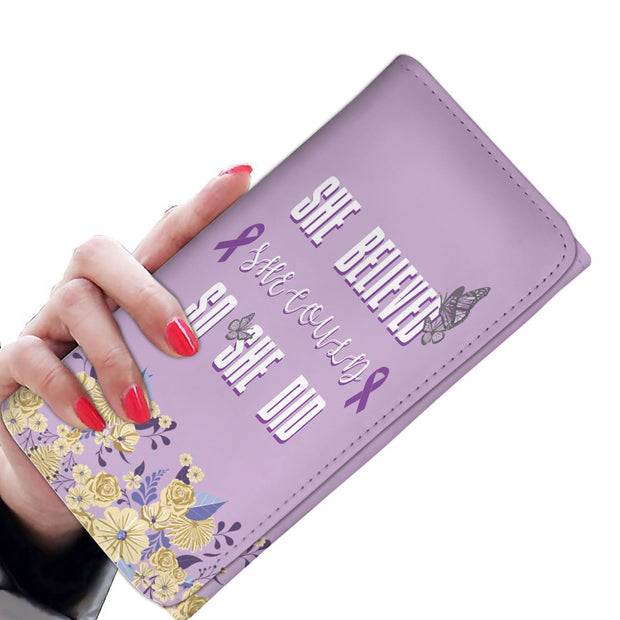 She Believed She Could So She Did RFID Women's Wallet - Get Set Style Metro
