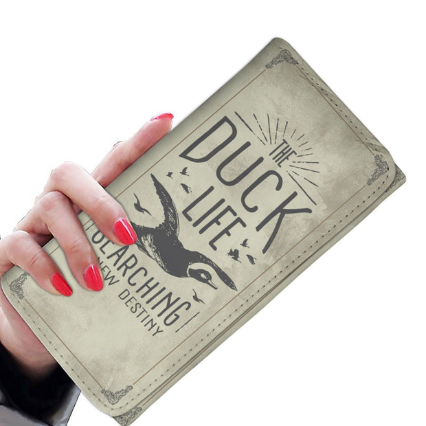 GetSetStyleMetro Womens Wallet The Duck Life is Searching New Destiny RFID Womens Wallet