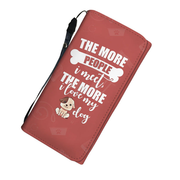 The More I Love My Dog RFID Womens Wallet - Get Set Style Metro