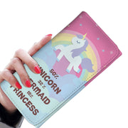 Unicorn - Mermaid - Princess RFID Womens Wallet - Get Set Style Metro