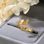 Personalized Double Name Ring