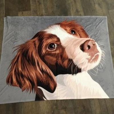 custom dog fleece blanket