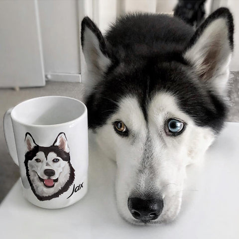 your dog on a mug
