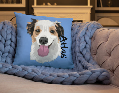Custom dog Couch Pillow