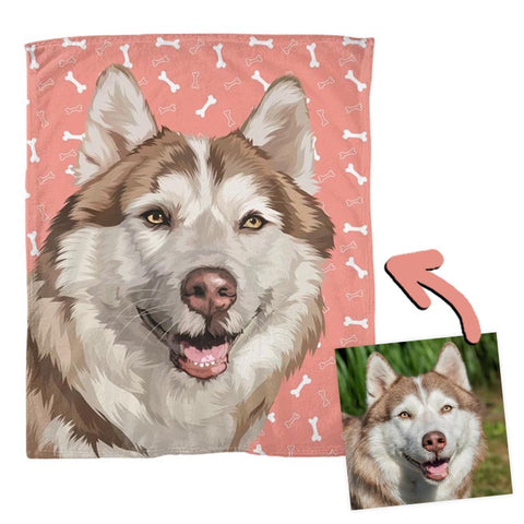 custom dog drawn blanket