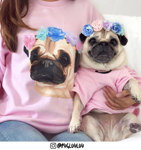 Custom pug dog sweatshirt