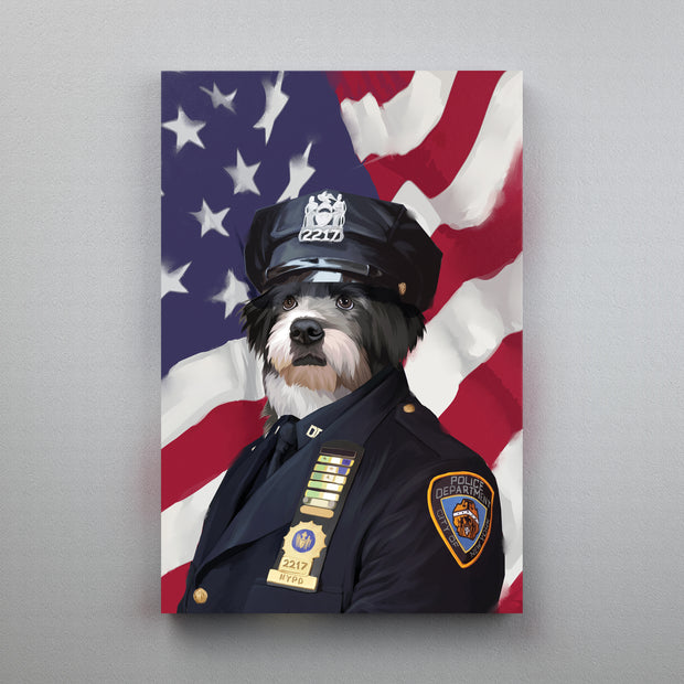 NYPD Officer - Custom Pet Canvas