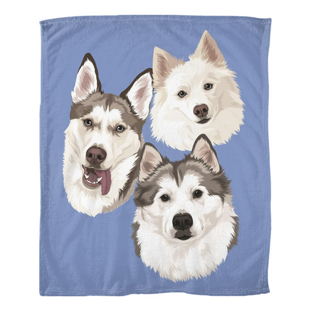 custom dog art blanket