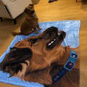 custom dog print fleece blanket