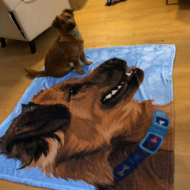 personal cartoon blanket