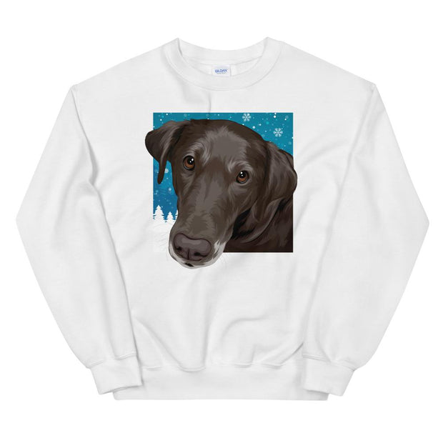custom christmas sweatshirt of your dog