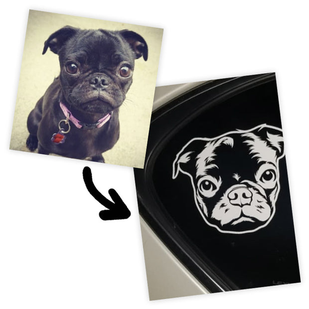 Custom Pet Car Decal Sticker