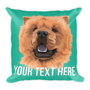 custom pet portrait pillow
