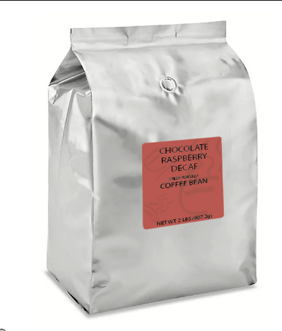 Chocolate Raspberry Decaf Whole Bean - 4 lb Case