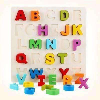 Toys & Hobbies Other Educational Toys New Wooden Number Letter Puzzle Jigsaw Early Learning Baby Kids Educational Toys Complete In Specifications